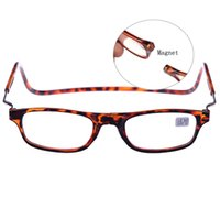Wholesale Hanging Girls Neck - Adjustable Front Connect Reader hang neck click Magnetic Reading Glasses for Men and Women 4 Colries 7stream available 1 to 4 OL02