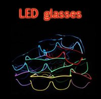 Novo Natal LED Party Glasses Moda EL Wire glasses Aniversário Halloween Party Bar Fornecedor decorativo Luminous Glasses
