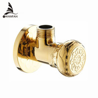 Wholesale High quality New quot malex quot male Brass Bathroom Angle Stop Valve Gold finish Filling valves bathroom part HJ K