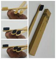 ingrosso spazzole per pulizia di casi-Spazzolini da denti in bambù personalizzati Tongue Cleaner Denti da denti denti Kit da viaggio Denti realizzati in Cina CCA7041 500 pezzi
