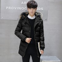 Wholesale Casual Faux Fur Hooded Pad - Wholesale- 2016 New Winter Jacket Men Cotton Padded Long Black Thick Warm Faux Fur Casual Hooded Male Jacket Coat