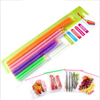 Wholesale Clips For Bags Food - Magic Bag Sealer Stick Unique Sealing Rods Great Helper For Food Storage Sealing Cllip Sealing Clamp Clip By DHL