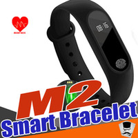 Wholesale M2 Heart Rate Smart Wristbands Band Smart Bracelet Bluetooth Smartband with Sleep Monitor For iPhone Xiaomi a1 smart watch
