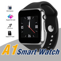 Wholesale Dial Silicone Watches - A1 Smartwatch Bluetooth Smartwatch Apple iWatch Support SIM TF Card Smart Wrist Watches Silicone Strap Smartphone with Retail Package