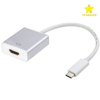 Wholesale Usb Multimedia Adapter - USB 3.1 Type C to HDMI Adapter Video Cable Male to Female Connector for Macbook