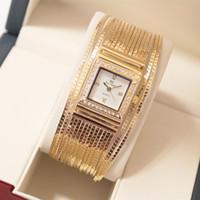 Wholesale Sliver Wristwatch - Luxury Women Bracelet Wristwatch Gold Sliver Lady watch Elegant Female quartz dress watch free shipping Fashion High Quality