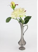 Wholesale decorative art vase for sale - Art Crafts Home Decoration Flower Holder Decorative Alloy Tabletop Vase
