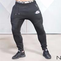 Wholesale Workout Cloths - Wholesale- Men's AthleticGym Pants Workout Cloth Sporting Active Cotton Pants Men Jogger Pants Sweatpants Bottom Legging