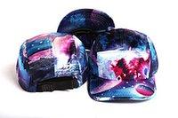 ingrosso galassia del cappello piatto-Marca GALAXY Blank 5 Panel Cap Cappello Hip Hop Bone Bobby Cinque pannelli Cappelli snapback Berretti da baseball per uomo Donna Flat gorras Casquette