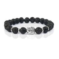 Wholesale Diy Pulseiras - Shinus Bracelets For Women & Bangles Buddha Men Pulseiras Feminina Natural Beads Lava Stone Jewelry Bijoux Femme 2016 Love Diy