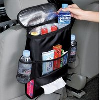 Wholesale Diapers Hang Bag - Wholesale-Auto Back Car Seat Organizer Holder Multi-Pocket Travel Storage Hanging Bag diaper bag baby kids car seat ipad hanging bag