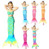 Wholesale Child Girl Suit Design - 1pc sale Girls mermaid tail Bikini Fashion Tail Swimsuit 6 Design children Bikini Bathing Suit Swimsuit Beach Wear Swimming