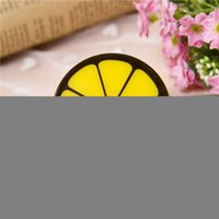 Wholesale Lemon Bedroom - Wholesale- New Creative Lemon Pattern LED Night Light Auto Sensor Control Lamp Bedroom Light US Plug