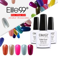 Wholesale One Step Gel Nail Polish - Wholesale- Elite99 Perfect Alcohol Removable One Step Nail Polish Gel 3 in 1 UV LED Soak off Long Lasting Gel Polish Nail Art Varnish 10ml