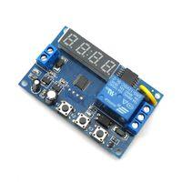 temporizadores multifunción al por mayor-Módulo de temporizador de ciclo de PLC de relé de autoretención multifunción DC 12V 24V DC Módulo de retardo de tiempo de retardo de tiempo de conmutación