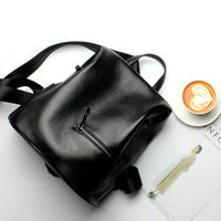 Wholesale Leather Backpacks Europe - 2017 New Leather Shoulder Bag Handbags Europe America Fashion Trend Backpack Leisure Bag Shoulders Backpack