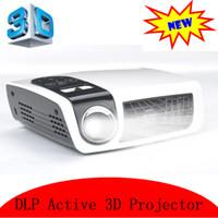 tableta proyector dlp al por mayor-Al por mayor-2016 NUEVO HD DLP proyector con 2D a 3D convertidor HDMI USB Mini Beamer 720P trabajo con computadora portátil iPhone Android Tablet PC