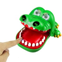 Wholesale Crocodile Family - Wholesale-Big Crocodile Mouth Dentist Bite Finger Game Toy Family Game For Children Kids Xmas Gift