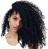 Wholesale African American Baby Hairstyles - Glueless Lace Front Human Hair Wigs with Baby Hair Brazilian Kinky Curly Full Lace Wigs for African American FDSHINE