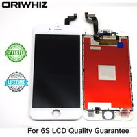 "Wholesale Lcd Iphone Oem White - OEM Grade AAA Repair Part For iphone6S iphone 6S 4.7"" Full LCD Display Digitizer Touch Panel Screen Assembly Lifetime Warranty White Black"
