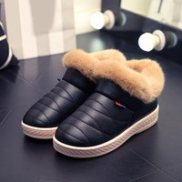 2017 Women Boots Waterproof Winter Warm Fur Ankle Boots Casal Home Tholl Soled Warm Cotton Shoes frete grátis