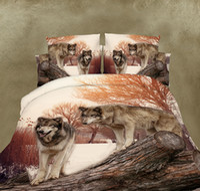 Wholesale Comforter Sets Queen Sale - 3D Bedding Set Bed Sheets Duvet Cover Pillowcase Polyester Animal Scenic Designer Home Textile Fashion Hot Sale