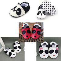 Wholesale shoes baby boy animal for sale - Baby Prewalker Panda Cartoon Series Girls Boys Baby Walking Shoes Breathable Slip on Anti slip Soft Sole Affixed to foot