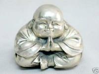 Wholesale Rare Buddha - Rare excellent Tibet Silver Buddha statue