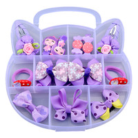 Wholesale Baby Jewelry For Girls - 13Pcs Mix Styles Baby Kids Girls Hairpin Hair Clips Jewelry Hair Accessories Bow Flower Hair Headband with Gift Box Best Gifts for Girls