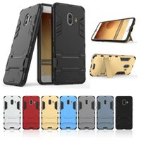Luxo Ironman Shockproof Hard Plastic + Soft TPU Case para Galaxy C10, S8 G9500 2017 / Plus Hybrid Kickstand Skin Defender Holder 2in1 Dual Cover