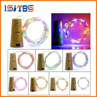 Wholesale Wine Red Curtains - 2M 20LED Lamp Cork Shaped Bottle Stopper Light Glass Wine LED Copper Wire String Lights For Xmas Party Wedding Halloween