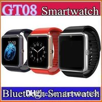 20X Bluetooth Smart Watch GT08 A1 con guardie di salute della scanalatura della carta di SIM per il iPhone 6S Samsung S7 Android IOS Smartphone Braccialetto Smartwatch C-BS