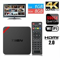 Wholesale Mx Android Tv Boxes - Android OTT TV Box T95N Mini MX Amlogic S905X Quad core 6.0 OS fully loaded Smart Streaming Media Player 1G+8G better than MXQ pro