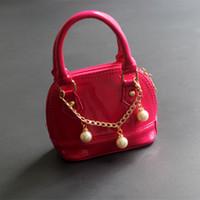 Wholesale Little Girls Summer Bags - Fashion Todller Handbag New PU leather Beads Kid Bags Designer Children Bag Good Gift for Little Kids Girls Mini Summer Bag Girl Purse CK116