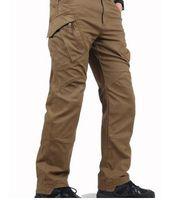 Wholesale Ykk Military Zippers - Urban Tactical Pants IX9 Mens Military Combat Assault SWAT practice Army Trousers 97% cotton 3% Spandex YKK zipper