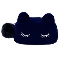 Wholesale Make Trips - Women Cosmetic Bag Cute Cat Beautician Vanity Trip Travel Toiletry Make Up Makeup Bag Suitcase Case Storage Pouch Organizer Neceser