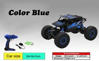 Wholesale Electric Motors Gear Drive - 20151137 Telecar 2.4G 4CH 4WD Rock Crawlers 4x4 Driving Car Double Motors Drive Bigfoot Car