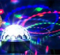 Wholesale Crystal Magic Ball Laser Stage Lighting bulb Effect mini stage light lamp for party Disco DJ Bar Bulb RGB LED Light