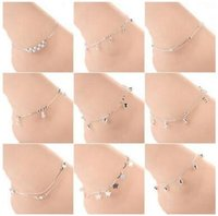 Wholesale seaside bracelets - Multi-designs Women foot anklets chains Bracelet Barefoot Sandal summer seaside Bohemian bikini beach Foot Jewelry fashion Accessories