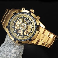 Wholesale Men Mechanical Watches Vintage - Winner Watches Men Skeleton Automatic Mechanical Watch gold skeleton vintage watchskeleton man watch Mens Watch Top Brand Luxury Drop Shippi