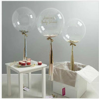 Wholesale Air Suppliers - 5  12 18 36 inch Confetti Balloons Giant Clear Balloons Party Wedding Party Decorations Birthday Party Suppliers Air Balloons 10pcs