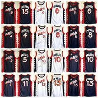 Wholesale Usa Olympic Basketball - Atlanta Olympic USA 1996 Dream Team Basketball Jerseys 4 Charles Barkley 5 Hill 6 Hardaway 8Pippen 10 Reggie Miller 15 Hakeem Olajuwon Jerse