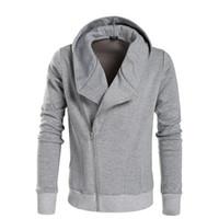 Wholesale Side Zip Hoodie Jacket - Wholesale-Autumn Men's Sportswear Fashion Casual Sweatshirt Slim Fit Hoody Cardigan Hoodies Men Fleece Jacket Sportman Suit Side Zip Coats