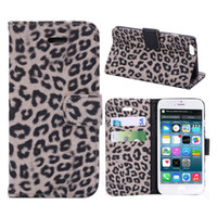 Leopard Pattern Wallet Flip PU Leather Wallet Estojo para celular para iphone 6S 7 Plus Galaxy S8 Plus Cases Cover com slot para cartão