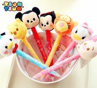 Wholesale Baby Boy Daisies - TSUM TSUM plush TSUM pen Mickey, Minnie,Daisy,Donald Duck Anime Plush Doll Cartoon Cute Ballpoint pen Stationery for gifts