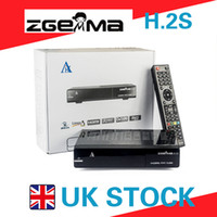 Wholesale Linux Satellite Receivers Wholesale - ZGEMMA H.2S Satellite Receiver Twin DVB S2 Tuner Enigma2 Linux OS 2000DMIPS CPU Processor BCM7362 Set Top Box in UK Stock