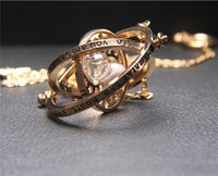 Wholesale hourglass necklaces - Gold plated time turner necklace hourglass vintage pendant Hermione Granger for women lady girl wholesale