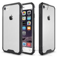 Wholesale Acrylic Transparent Bags - Armor Case For Iphone 8 Transparent Hybrid Cases Ultra Thin TPU PC Acrylic Back Cover Case For iPhone 7 Plus Samsung S8 PLUS Case Opp Bag