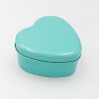 coração em forma de caixa de lata de doces venda por atacado-500 pcs Caixa De Doces Da Lata De Doces Caixa De Doces De Forma De Coração Vários Cor Fontes Do Casamento WA1983