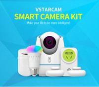 Wholesale Smart Light Kit - E27 Smart lights and plugs IP Camera Kit WI-FI HD 720P IR-Cut Remote Control CCTV Camera System